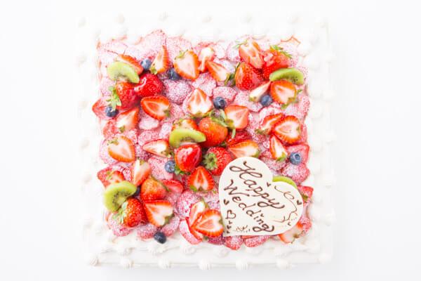 フレッシュキウイが香る イチゴ&キウイスクエアデコレーション 30×30cmの画像2枚目