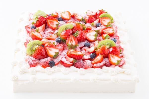 フレッシュキウイが香る イチゴ&キウイスクエアデコレーション 30×30cmの画像3枚目