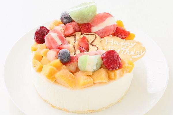 ナンバーアイスクリームのデコレーションケーキ 4号 12cmの画像1枚目