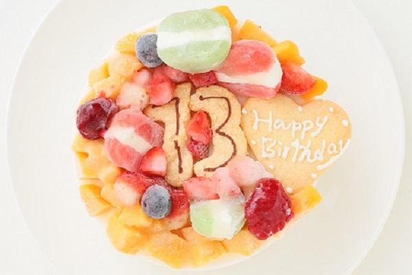 ナンバーアイスクリームのデコレーションケーキ 4号 12cmの画像2枚目