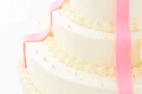 リボンカラーが選べる丸型 プレゼントボックスケーキ 3段 10号×7号×5号の画像11枚目
