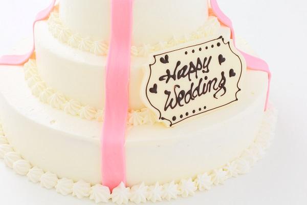 リボンカラーが選べる丸型 プレゼントボックスケーキ 3段 10号×7号×5号の画像12枚目