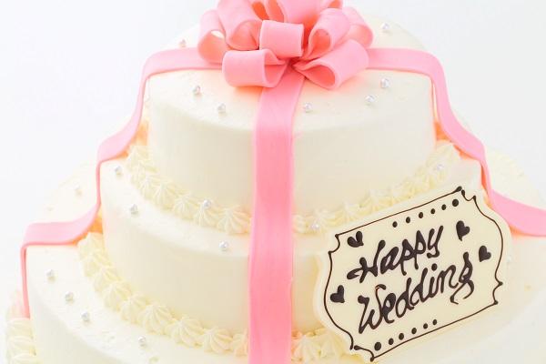 リボンカラーが選べる丸型 プレゼントボックスケーキ 3段 10号×7号×5号の画像13枚目
