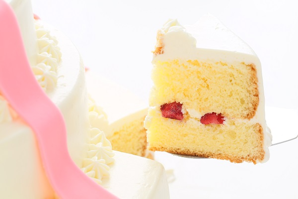 リボンカラーが選べる丸型 プレゼントボックスケーキ 3段 10号×7号×5号の画像5枚目