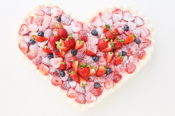 イチゴ好きにはたまらない ハート型イチゴデコレーション 30×40cmの画像4枚目