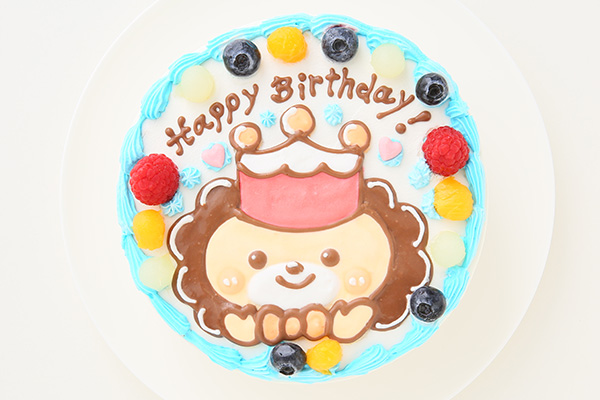 1日2台限定 カラーが選べるイラストケーキ キャラクター1体のみ 5号 15cmの画像1枚目