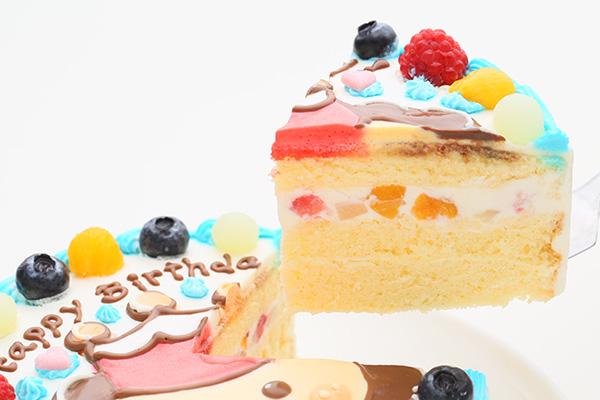 1日2台限定 カラーが選べるイラストケーキ キャラクター1体のみ 5号 15cmの画像3枚目