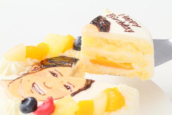 似顔絵生クリームデコレーションケーキ 4号 12cmの画像3枚目