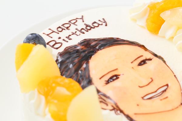 似顔絵生クリームデコレーションケーキ 4号 12cmの画像6枚目