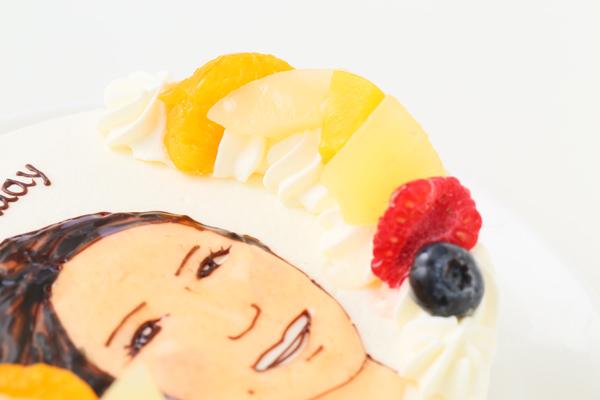 似顔絵生クリームデコレーションケーキ 4号 12cmの画像7枚目