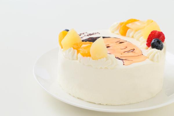 似顔絵生クリームデコレーションケーキ 4号 12cmの画像8枚目
