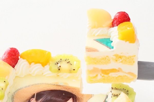 写真ケーキ角型生クリーム 15㎝×15㎝の画像3枚目