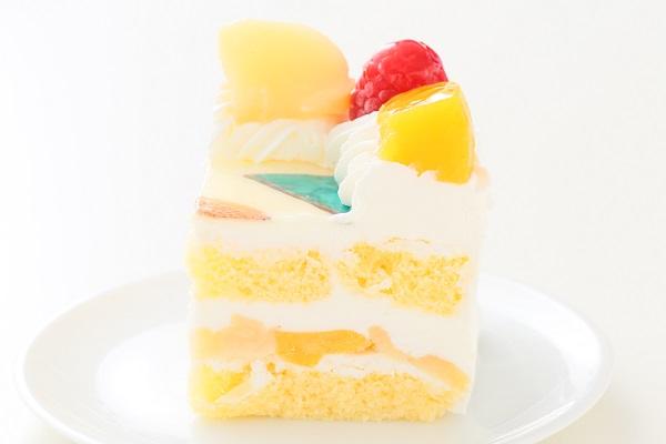 写真ケーキ角型生クリーム 15㎝×15㎝の画像4枚目