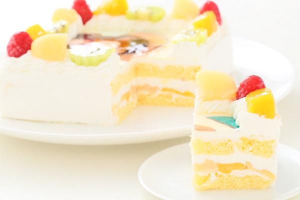 写真ケーキ角型生クリーム 15㎝×15㎝の画像5枚目