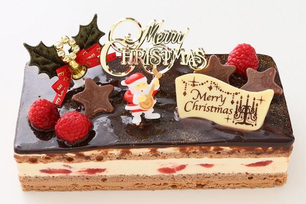 クリスマスケーキ2017 バニラとチョコの極上ブッシュ・ド・ノエル 18cm×9cmの画像1枚目
