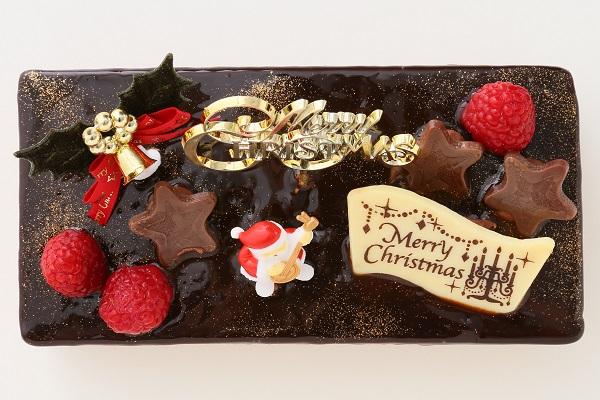 クリスマスケーキ2017 バニラとチョコの極上ブッシュ・ド・ノエル 18cm×9cmの画像2枚目