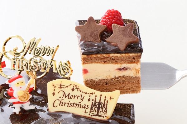 クリスマスケーキ2017 バニラとチョコの極上ブッシュ・ド・ノエル 18cm×9cmの画像3枚目