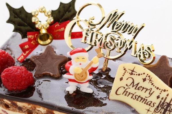 クリスマスケーキ2017 バニラとチョコの極上ブッシュ・ド・ノエル 18cm×9cmの画像6枚目