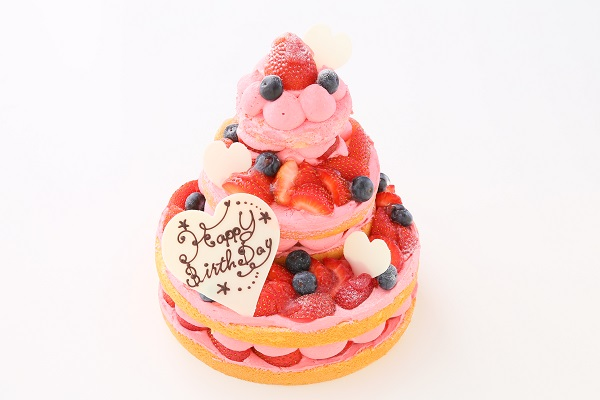 苺のネイキッドケーキ 直径18cm×12cm×7㎝の画像1枚目