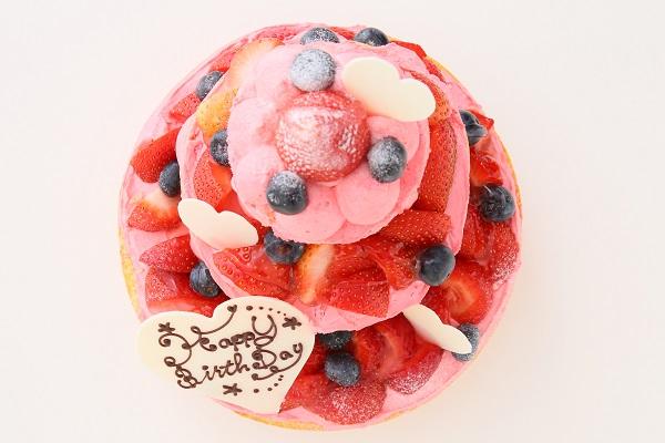 苺のネイキッドケーキ 直径18cm×12cm×7㎝の画像2枚目
