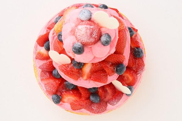 苺のネイキッドケーキ 直径18cm×12cm×7㎝の画像4枚目