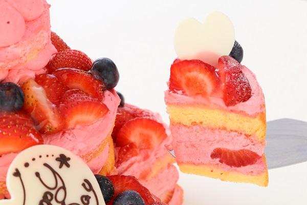 苺のネイキッドケーキ 直径18cm×12cm×7㎝の画像5枚目