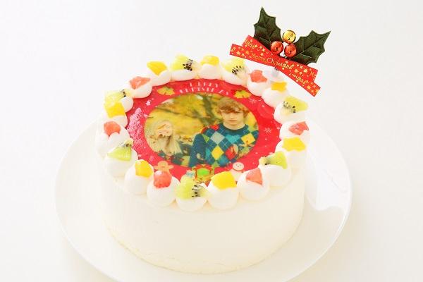 クリスマスケーキ2017 3種類から選べる 丸型写真ケーキ 4号 12cmの画像2枚目