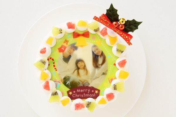 クリスマスケーキ2017 3種類から選べる 丸型写真ケーキ 6号 18cmの画像3枚目