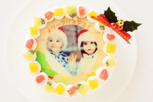 クリスマスケーキ2017 3種類から選べる 丸型写真ケーキ 6号 18cmの画像5枚目