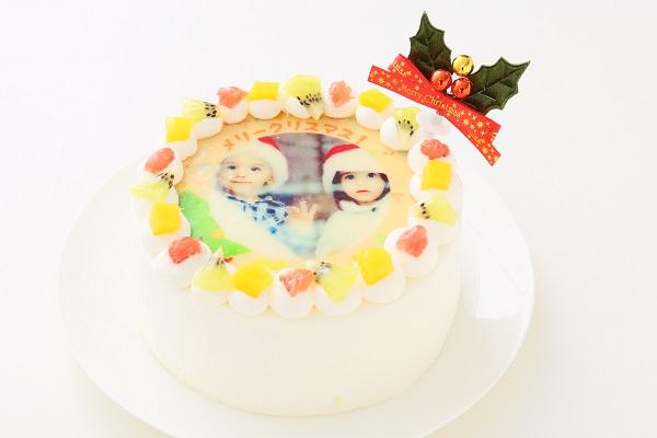 クリスマスケーキ2017 3種類から選べる 丸型写真ケーキ 6号 18cmの画像6枚目