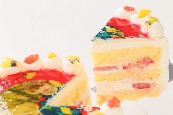 クリスマスケーキ2017 3種類から選べる 丸型写真ケーキ 6号 18cmの画像7枚目