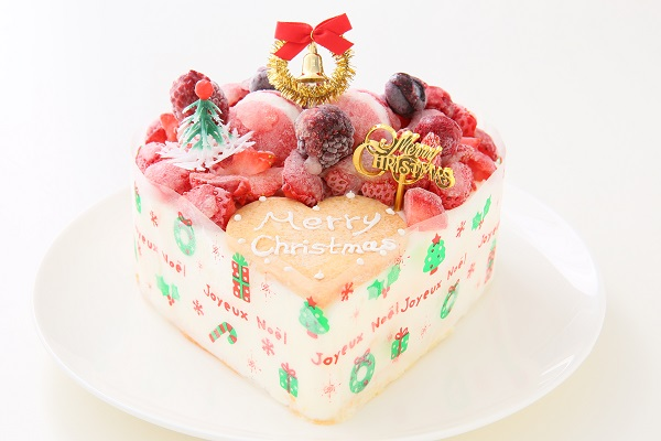 クリスマスケーキ2017 バニラアイスクリームのデコレーションケーキ 5号 15cmの画像1枚目
