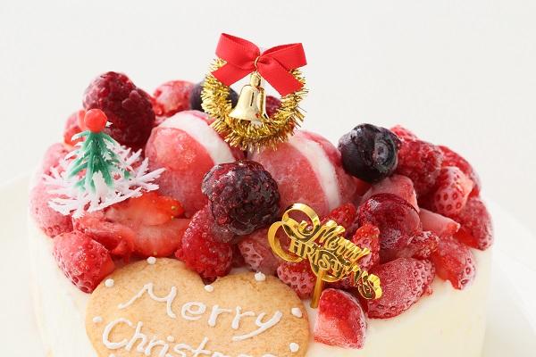 クリスマスケーキ2017 バニラアイスクリームのデコレーションケーキ 5号 15cmの画像8枚目
