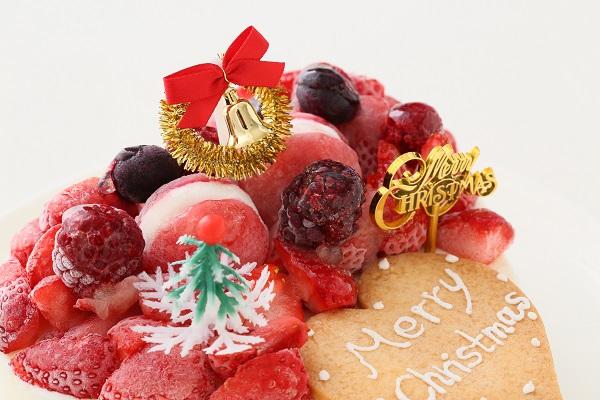 クリスマスケーキ2017 バニラアイスクリームのデコレーションケーキ 5号 15cmの画像9枚目