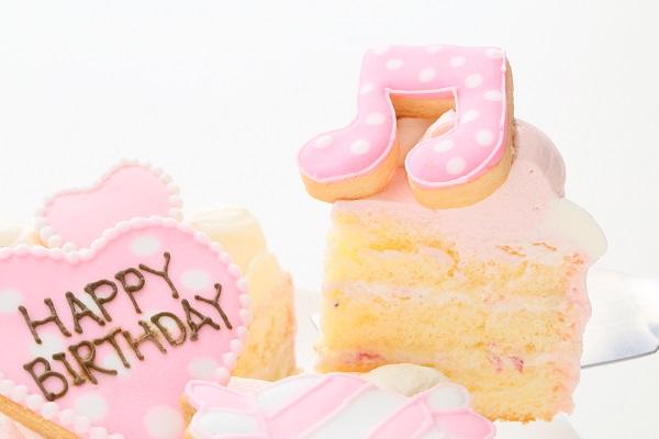 アイシングクッキー乗せ プリンセスケーキ 5号 15cmの画像5枚目