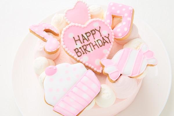 アイシングクッキー乗せ プリンセスケーキ 5号 15cmの画像9枚目