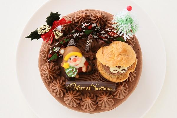 クリスマスケーキ2017 クリスマスガナッシュ 5号 15cmの画像2枚目
