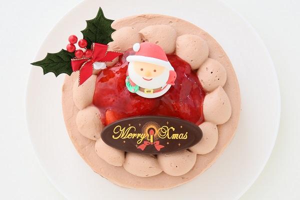 クリスマスケーキ2017 チョコ生クリームクリスマスケーキ 7号 21cmの画像2枚目