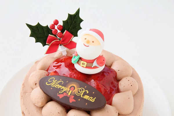 クリスマスケーキ2017 チョコ生クリームクリスマスケーキ 7号 21cmの画像9枚目