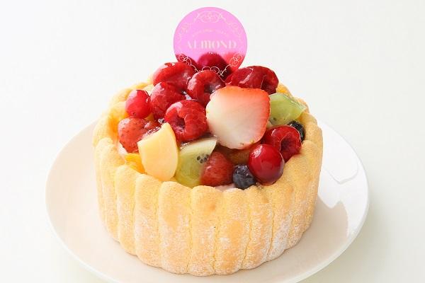 六本木アマンド 贅沢フルーツのシャルロットケーキ 4号 12cmの画像1枚目