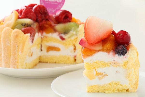 六本木アマンド 贅沢フルーツのシャルロットケーキ 4号 12cmの画像4枚目