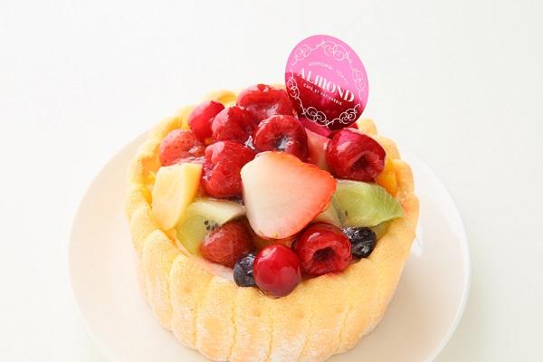 六本木アマンド 贅沢フルーツのシャルロットケーキ 4号 12cmの画像6枚目