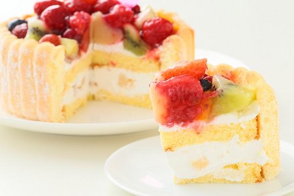 六本木アマンド 贅沢フルーツのシャルロットケーキ 5号 15cmの画像5枚目