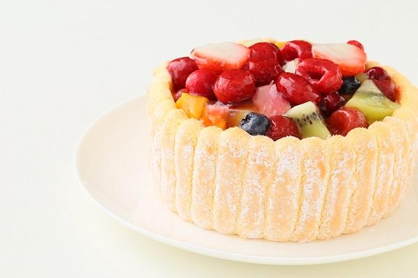 六本木アマンド 贅沢フルーツのシャルロットケーキ 5号 15cmの画像7枚目