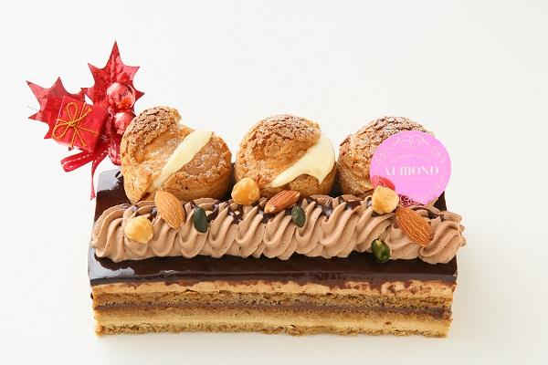 クリスマスケーキ2017 六本木アマンド シュークリーム・オペラ 直径15cmの画像1枚目