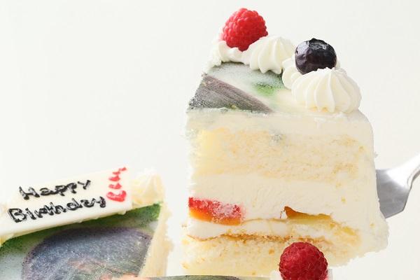 卵・乳製品・小麦粉除去可能 写真ケーキ 生 5号 15cmの画像3枚目