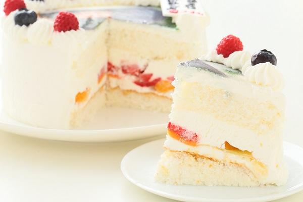 卵・乳製品・小麦粉除去可能 写真ケーキ 生 5号 15cmの画像5枚目