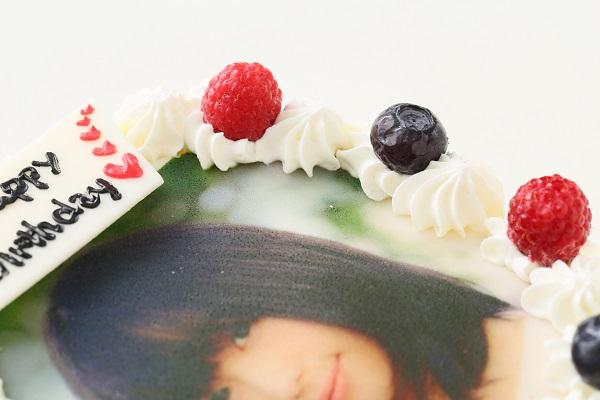 卵・乳製品・小麦粉除去可能 写真ケーキ 生 5号 15cmの画像7枚目