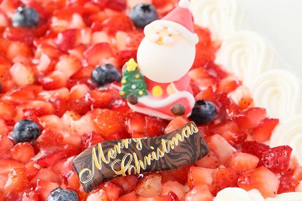 クリスマスケーキ2017 イチゴたっぷりパーティデコレーションケーキ 30×30cmの画像10枚目