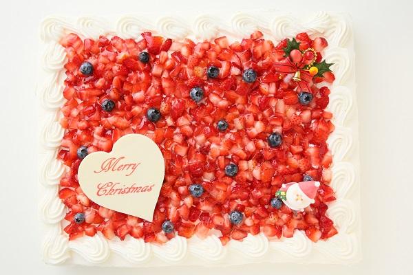 クリスマスケーキ2017 イチゴたっぷりパーティデコレーションケーキ 30×30cmの画像2枚目